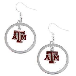 Texas A&M Aggies Hoop Logo Earring Set NCAA Charm