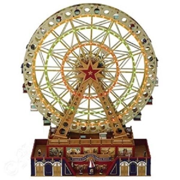 "15"" Mr Christmas Animated Musical LED Lighted World's Fair Grand Ferris Wheel Decoration #79795 - multi"