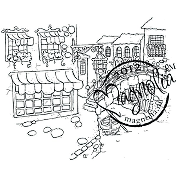"With Love Cling Stamp 6.5""X4"" Package-Venice"