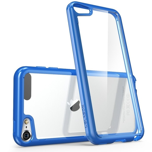 iPod Touch 6th Generation Case, i-Blason, Clear Scratch Resistant Case- Clear/Navy