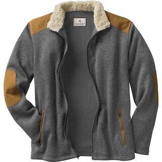Legendary Whitetails Mens Homestead Zip Front Sweater Fleece - Charcoal Heather