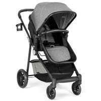 Costway 2 In1 Foldable Baby Stroller Kids Travel Newborn Infant Buggy Pushchair Coffee