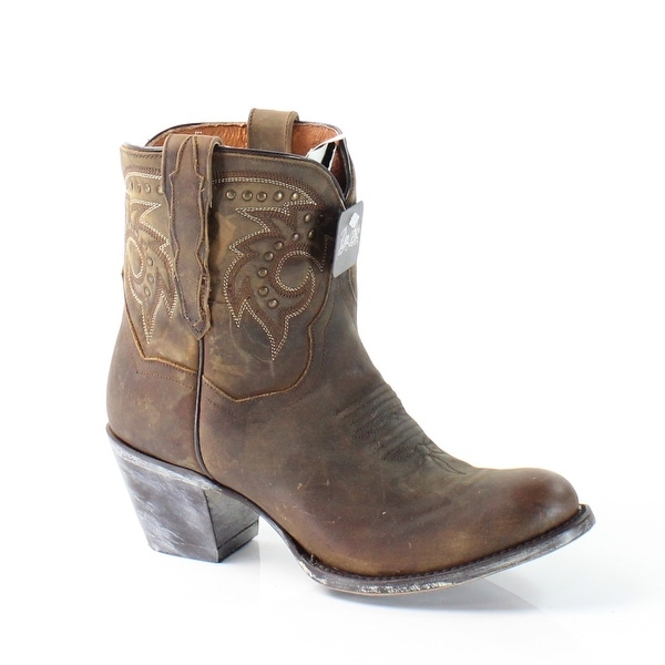 Dan Post NEW Brown Tsn Dist Shoes Size 7.5M Western Leather Boots