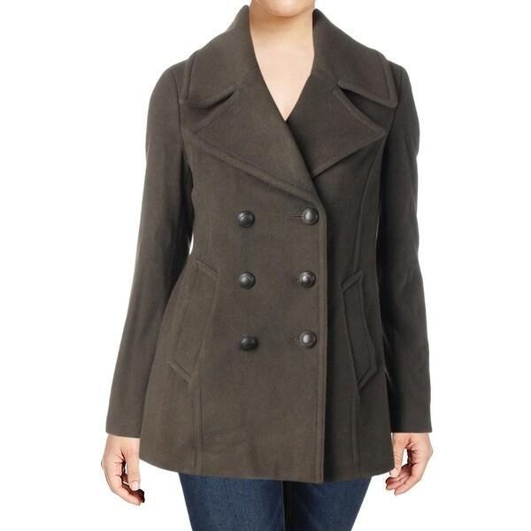 Karl Lagerfeld Paris Womens Pea Coat Fall Wool Blend