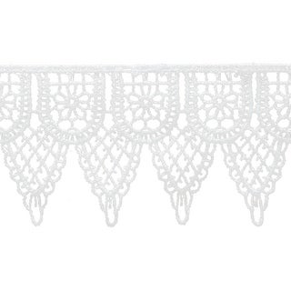 """Double Scalloped Venice Lace 2-1/4""""X10yd-White - White"""