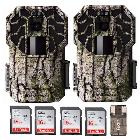 Stealth Cam G45NGX 22 MP Trail Camera (2) with 16GB Card (4) & Reader