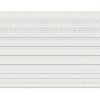 School Smart Skip-A-Line Ruled Writing Paper, 1/2 Inch Ruled Long Way, 11 x 8-1/2 Inches, 500 Sheets