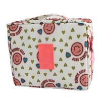Travel Smile Face Pattern Cosmetic Shampoo Brush Tidy Organize Storage Bag