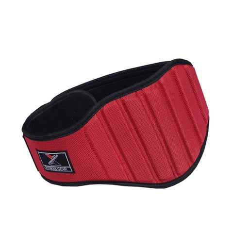 "Weight Lifting Belt Gym Back Support Fitness 8"" Wide Neoprene With Mesh Red BT4"