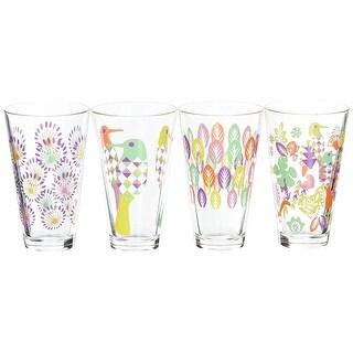 Sagaform Fantasy Glasses LargeAssorted Color Set of 4