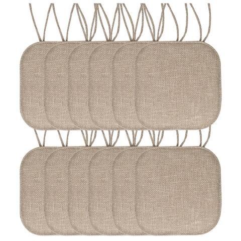 Herringbone Memory Foam 16 x 16 Chair Pad With Ties