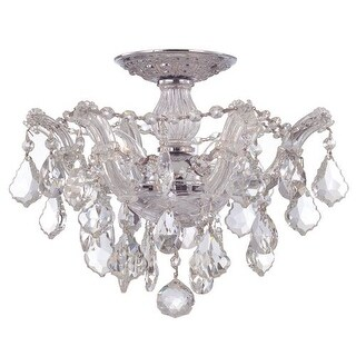 "Crystorama Lighting Group 4430-CL Maria Theresa 3 Light 13-1/2"" Wide Semi Flush"