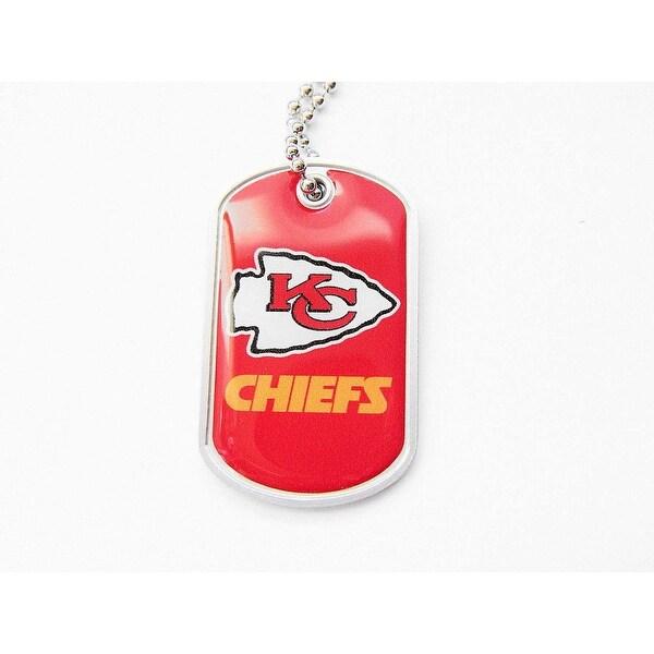 Shop Kansas City Chiefs Dog Tag Domed Necklace Charm Set