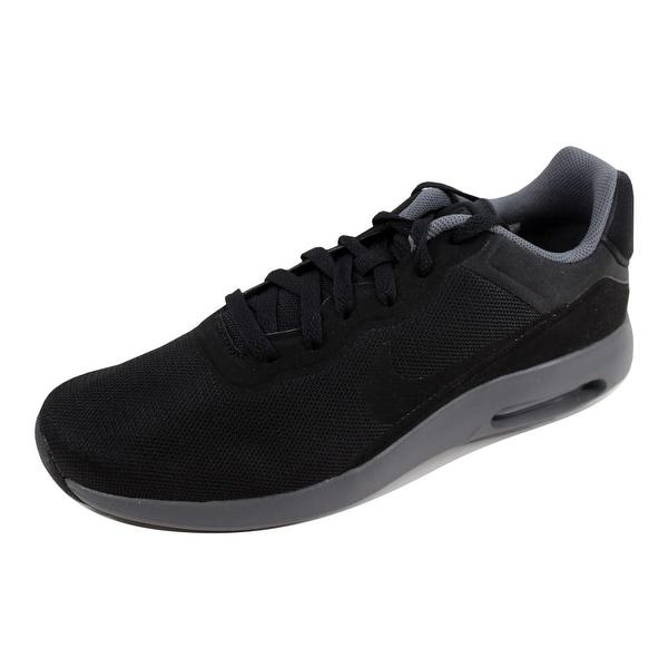 7c0f0e26e57c10 Shop Nike Men s Air Max Modern Essential Black Black-Dark Grey Size ...