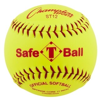 Champion Safety Softball, 12 Inch Yellow, Pack of 12