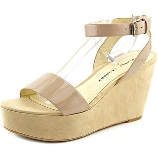 Chinese Laundry Game Time Open Toe Synthetic Wedge Heel