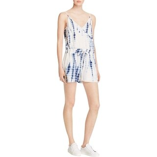 French Connection Womens Romper Tie-Dyed V-Neck