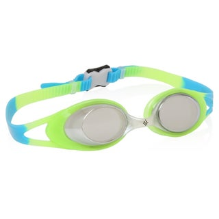 Ivation Mirrored Swim Goggles - UV Protection, Anty-Fog, Quick Adjusting Silicone Head Strap