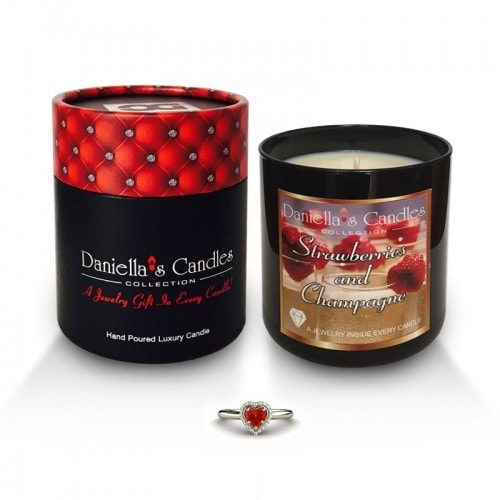Strawberries and Champagne Jewelry Candle - Surprise Me