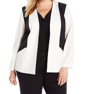 Nine West NEW White Black Women's Size 24W Plus Colorblock Jacket