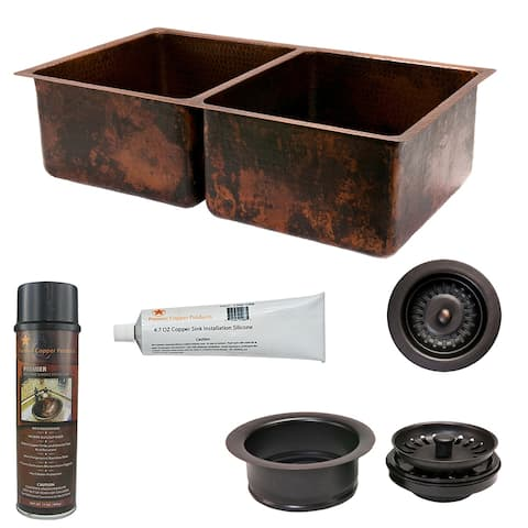 Premier Copper Products KSP3_K50DB33199 Kitchen Sink and Drain Package