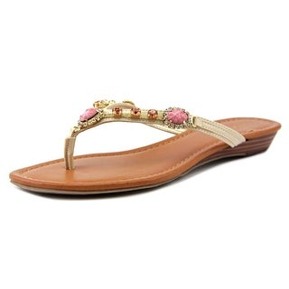 Marc Fisher Liliana Open Toe Synthetic Flip Flop Sandal