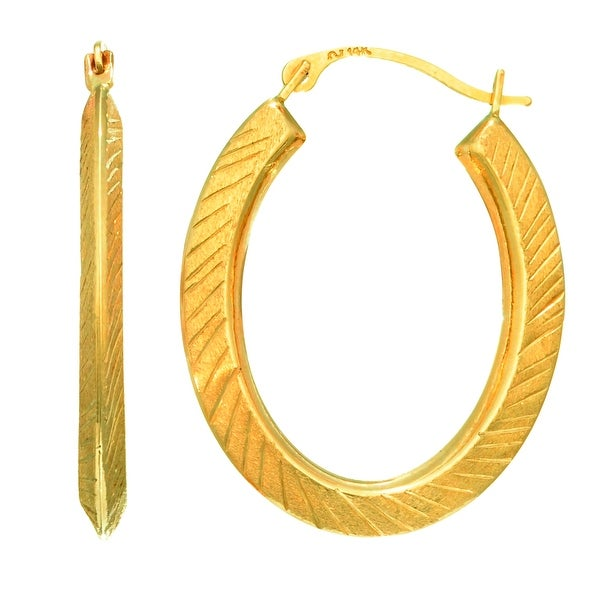 Mcs Jewelry Inc 14 Karat Yellow Gold Children X27 S Small Oval Hoop Earrings