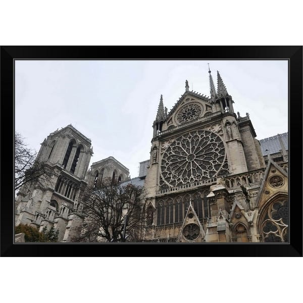 Notre Dame Cathedral Paris Black Framed Print On Sale Overstock 30190839