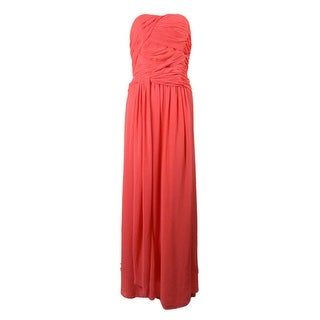 Laundry Women's Pleated Chiffon Dress - bright calypso coral