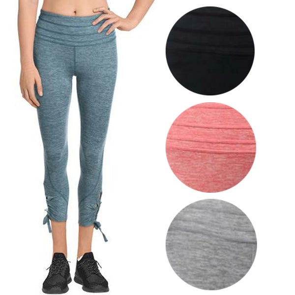 FP Movement Swerve Women's Lace-Up Ankle Length Cropped Activewear Leggings. Opens flyout.