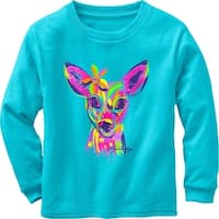 Legendary Whitetails Toddler Girls Radiant Fawn Long Sleeve T-Shirt - Glacier