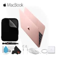 "Apple 12"" MacBook Rose Gold MNYN2LL/A Retina, 1.3GHz Intel Core i5 Dual Core Processor, 8GB RAM - Starter Bundle"