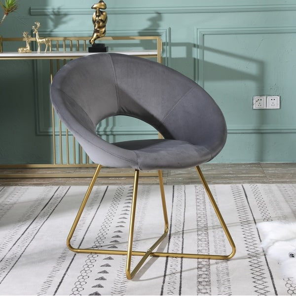 Silver Orchid Murray Velvet Upholstered Accent Chair. Opens flyout.