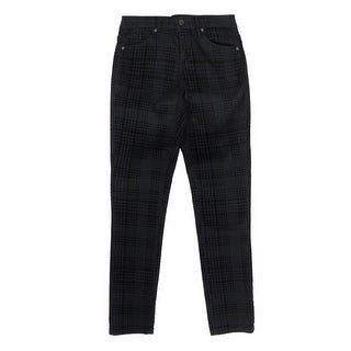 Anne Klein Women's Velvet Glen Plaid Skinny Jeans - Black - 0