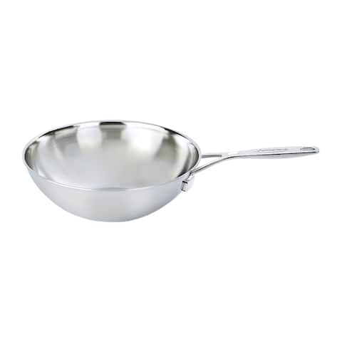 Demeyere Industry 5-Ply 5-qt Stainless Steel Flat Bottom Wok - Stainless Steel