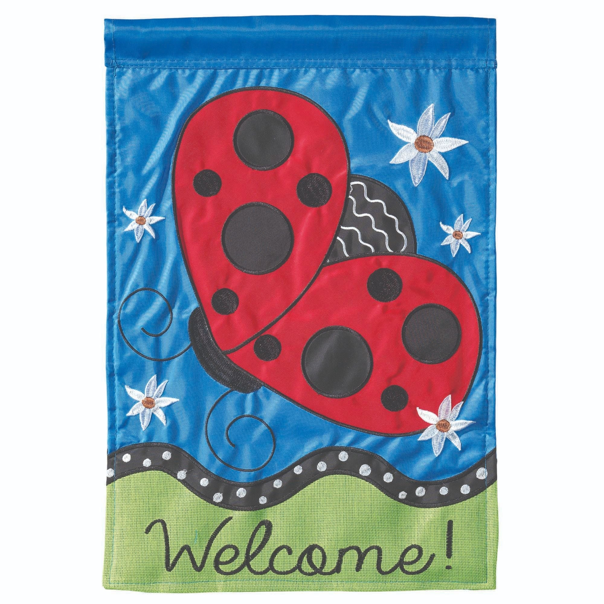 Shop Red And Blue Welcome Printed Rectangular Large Flag 42 X 29 Overstock 28749883