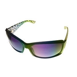 Ellen Tracy Sunglass 502 2 Violet Animal Rectangle Plastic, Violte Gradient Lens