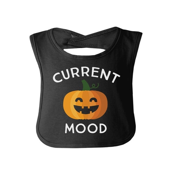 Pumpkin Current Mood Black Cotton Baby Bib Cute Pumpkin Baby Bib