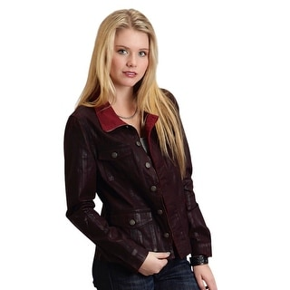 Stetson Western Jacket Womens L/S Button Red 11-098-0565-0710 RE