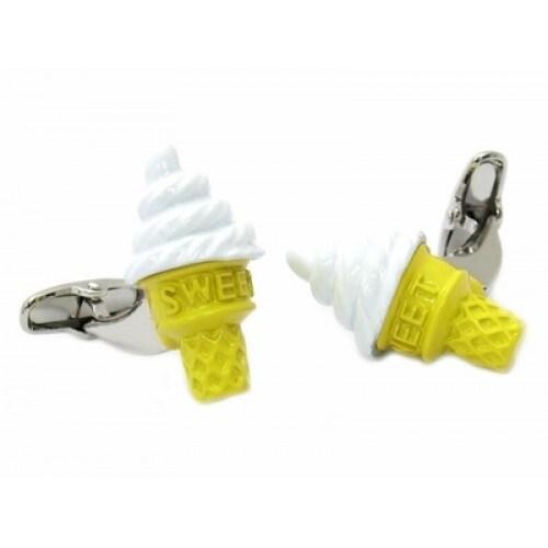 Ice Cream Cone Cufflinks