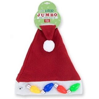 DDI 2316677 Jumbo Light Up Christmas Santa Hat - Case of 24