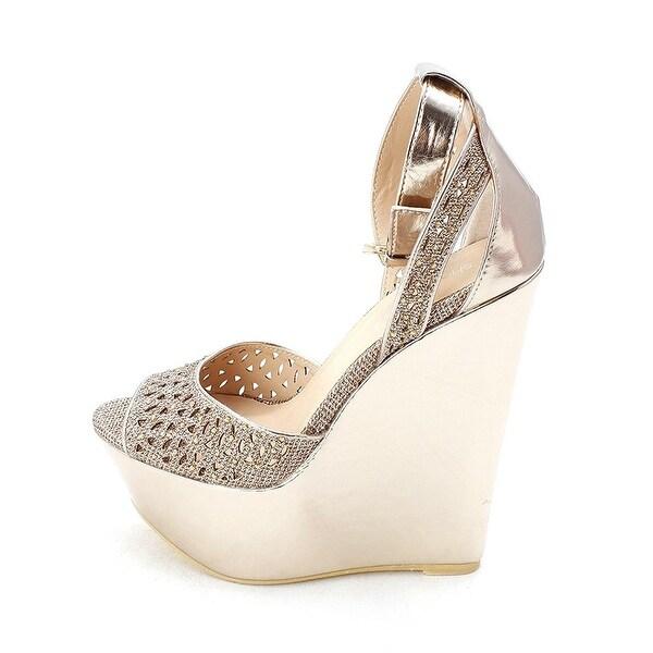 ShoeDazzle Womens Presta Peep Toe Special Occasion Platform Sandals - 5.5