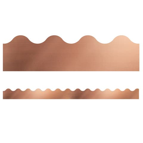 Sparkle and Shine Rose Gold Foil Scalloped Borders - One Size