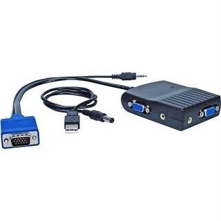 Qvs 300Mhz 2-Port Mini Vga Distribution Amplifier With Audio