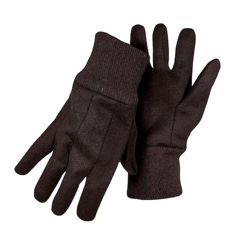 Boss 4020-6 Men's Jersey Work Gloves, Brown, Large