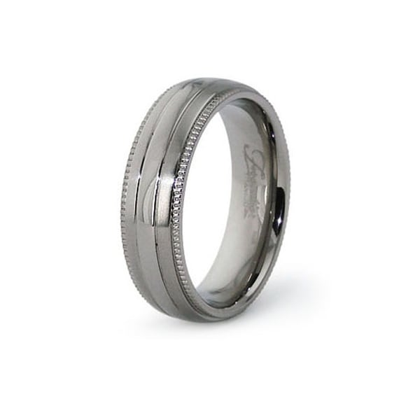 6.5mm Polished Titanium Ring (Sizes 6-12)