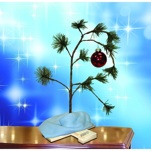 product works 14211 musical charlie brown christmas tree w linus blanket 24