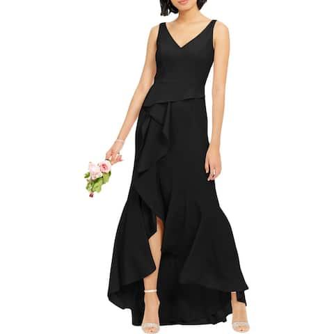 Adrianna Papell Womens Evening Dress Crepe Cascade