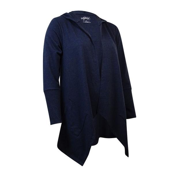 Style & Co Women's Open Front Drape Pocket Cardigan