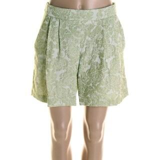 Vivetta Womens Jacquard Pleated Dress Shorts - 42